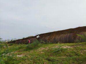 పార్వతీ బ్యారేజీ పంప్ హౌస్ వద్ద పైకి లేసిన పైపు లైన్